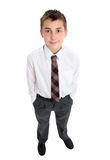 Typical school boy stands in uniform Stock Image