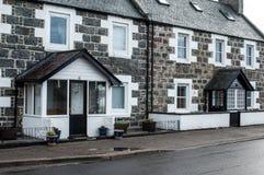Typical Scottish granite housing Stock Image