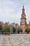 A typical sevillian carriage in España square in Sevilla, Spain Stock Photography