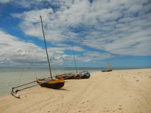 Typical ships in madagascar Royalty Free Stock Image