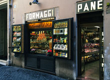 Typical shop in Rome Stock Photo