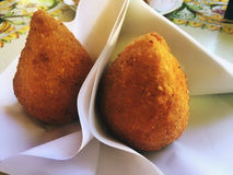 Typical Sicilian Arancino Stock Photography