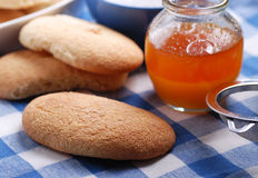 Typical Sicilian biscuits with honey Royalty Free Stock Photo