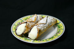 Typical sicilian Cannoli pastry Stock Photography