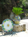 Typical Sicilian glazed ceramic Royalty Free Stock Photo