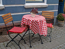 Typical side street cafe coffee shop Copenhagen. Denmark Royalty Free Stock Image