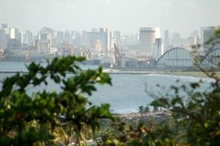Typical sight of the city of olinda. With recife at background stock photography