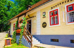 Typical Slovak restaurant in Orava Castle Stock Images
