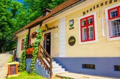 Typical Slovak restaurant in Orava Castle Stock Images