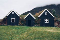 Typical small houses in Iceland. Stock Images