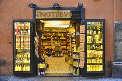 Typical small Italian grocery shop in Rome