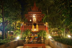Typical small shrine in Chiang Mai Stock Photos