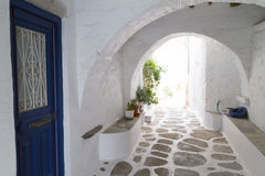 Typical small street in a Greece Royalty Free Stock Photos