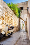 Typical small street in Lindos city Royalty Free Stock Image