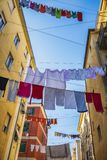 Small street in old town La Spezia, Italy Royalty Free Stock Photography