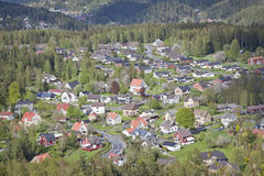 Typical small Swedish town. Typical small town in south Sweden Royalty Free Stock Photography