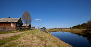 Typical small village in central Russia. Royalty Free Stock Image