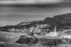 Typical small village of Gaspe royalty free stock photo
