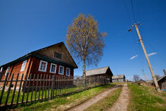 Typical small village in Russia. Stock Images