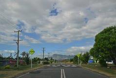 Typical small village which is plenty in North of Fijian island of Viti Levu, Fiji Royalty Free Stock Photo