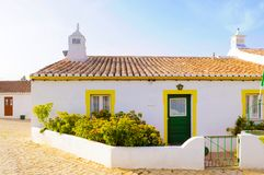 Free Typical Small White And Yellow House, Travel Portugal, Algarve Royalty Free Stock Photo - 112050835