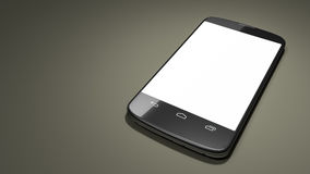 Typical smartphone with space for your content Royalty Free Stock Images