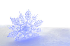 Typical snow flake Christmas and Winter Stock Photo