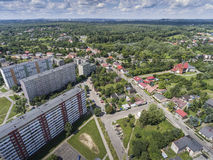 Typical socialist block of flats in Poland. East Europe. View fr Stock Photography