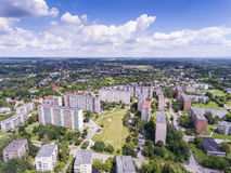 Typical socialist block of flats in Poland. East Europe. View fr Stock Image