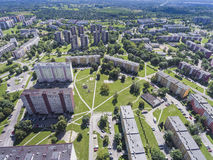 Typical socialist block of flats in Poland. East Europe. View fr Stock Photos