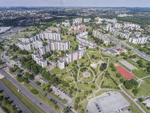 Typical socialist block of flats in Poland. East Europe. View fr Stock Photo