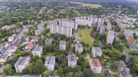 Typical socialist block of flats in Poland. East Europe. View fr Royalty Free Stock Photography
