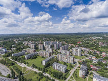 Typical socialist block of flats in Poland. East Europe. View fr Royalty Free Stock Image