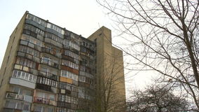 Typical socialist block of flats in Vilnius, Lithuania. East Europe. stock footage