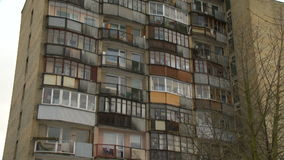 Typical socialist block of flats in Vilnius, Lithuania. East Europe. stock video