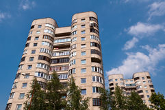 Typical Socialist Blocks of Flats. Built During Communism Period in Vilnius, Lithuania Stock Images