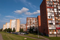 Typical Socialist Blocks of Flats Stock Images
