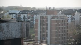 Typical socialistic buildings, Belgrade, Serbia stock video footage