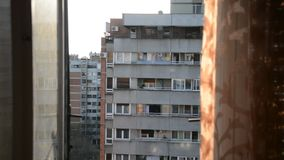 Typical socialistic buildings, Belgrade, Serbia stock footage
