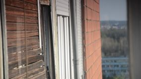 Typical socialistic buildings, Belgrade, Serbia. Typical socialistic buildings around the park, Belgrade, Serbia stock video footage