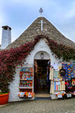 A Typical Souvenir Shop in Alberobello Royalty Free Stock Image
