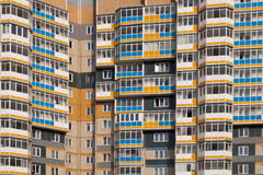 Typical soviet apartments. View of a typical soviet building in russia Stock Photography