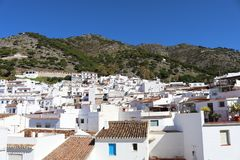 Typical Spain white village of Mijas Pueblo. Typical houses in the Spanish white village of Mijas Pueblo royalty free stock photo