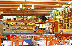 Typical Spainish cafe interior Royalty Free Stock Photography