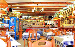Typical Spainish cafe interior Stock Photography