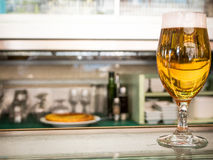 Typical spanish bar with beer and tortilla Stock Image