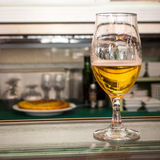 Typical spanish bar with beer and tortilla Royalty Free Stock Photos