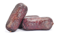 Typical Spanish blood sausages Royalty Free Stock Photography