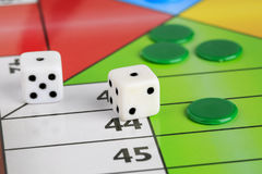 Typical spanish board game parchis royalty free stock photography