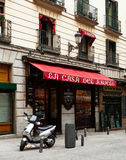 Typical spanish cafe in Madrid Royalty Free Stock Image